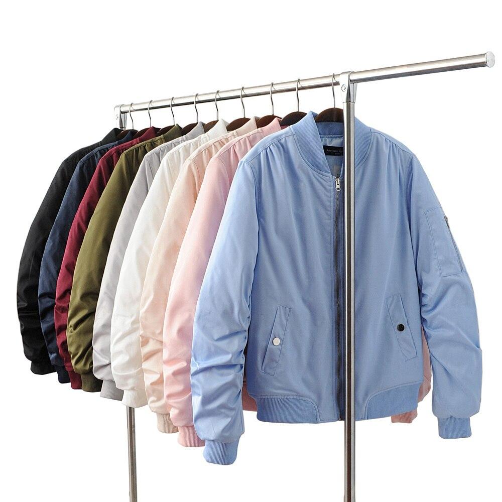 Vuelos de invierno azul rosa 9 colores chaqueta de bombardero chaqueta de las mu