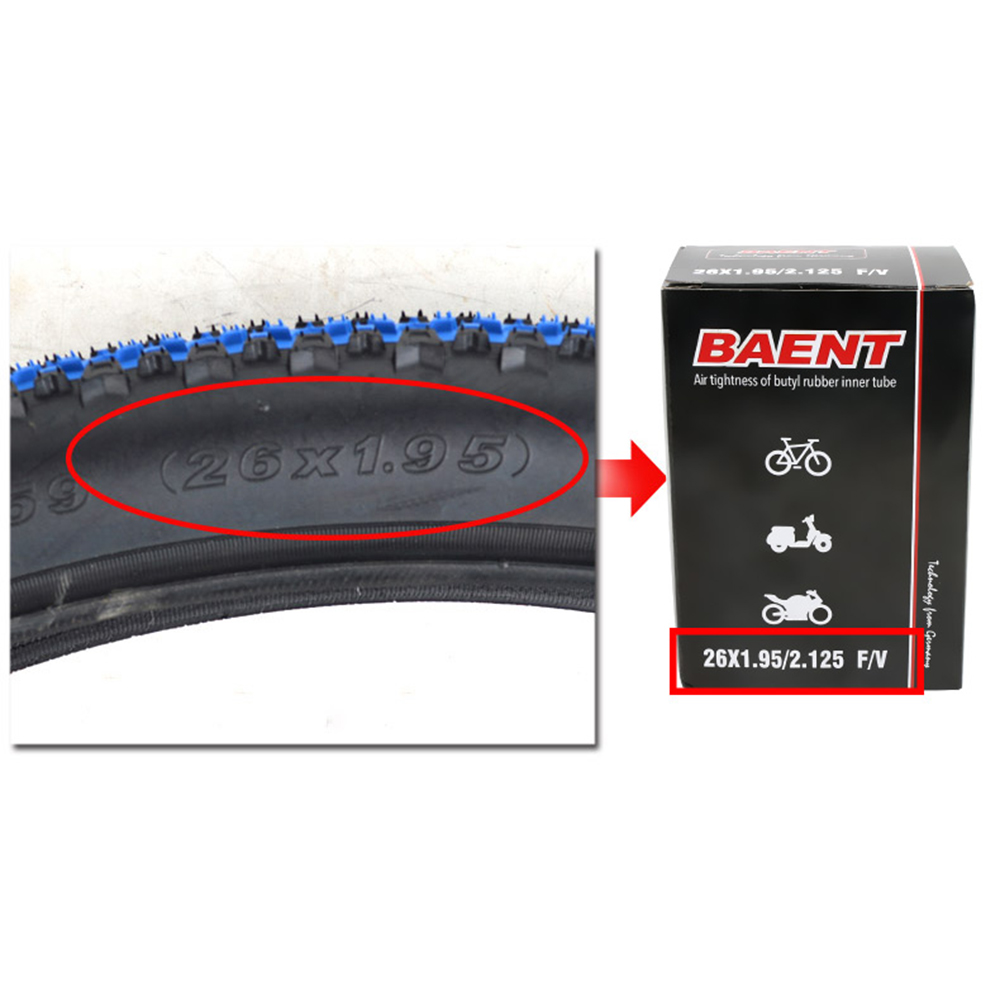 Bicycle tire EXO inner tube MTB ROAD mountain bike Schrader / US French valve inner tube for 1.95 2.1 700C <font><b>26</b></font> 27.5 29 image
