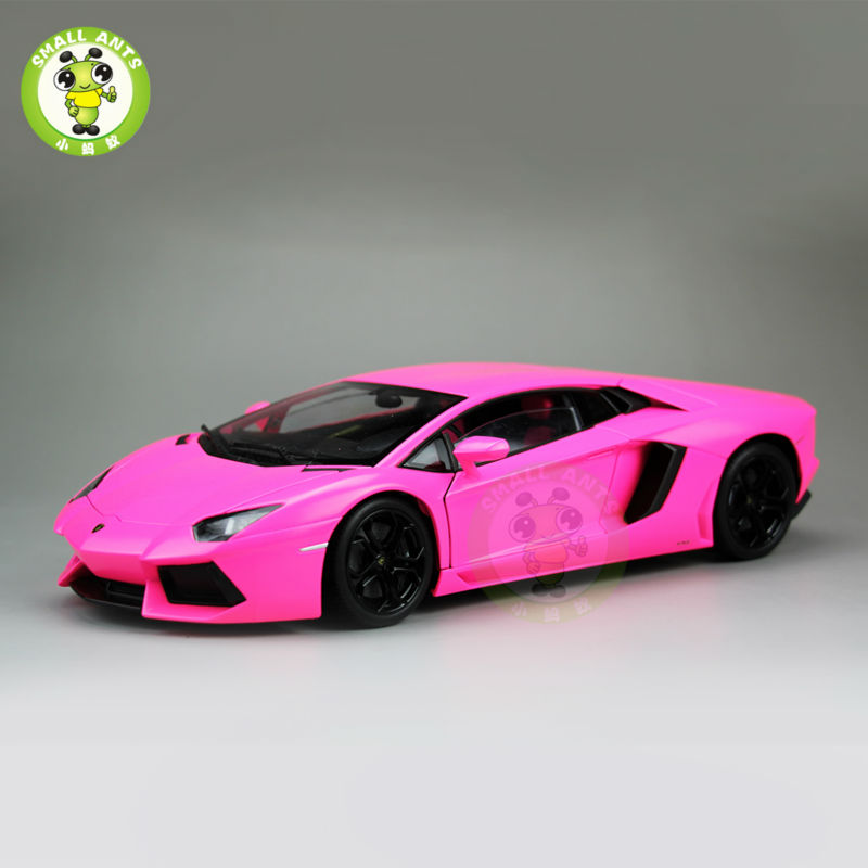 1/18 Aventador LP700-4 Diecast Welly FX Model 18041 Pink автомобиль welly lamborghini aventador lp 700 4 1 24 оранжевый 24033