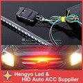 Boa Qualidade 20 modos À Prova D' Água IP68 56 CM 48LED Luz Bar Led Piranhas LED Knight Rider Luzes Do Carro Com Infravermelho Controle remoto