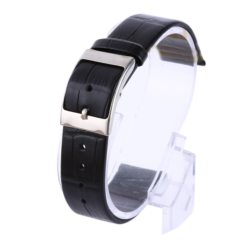 Straps Genuine Matte Leather Watch Band Modern Style Strap Thin Buckle Watchband For Men Wome 2018