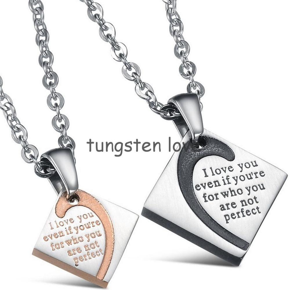 Popular Matching Necklaces Couples Love-Buy Cheap Matching ...