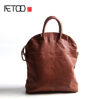 AETOO Europe and the United States and Japan and South Korea fashion retro belly Messenger bag handbags leather arts and culture
