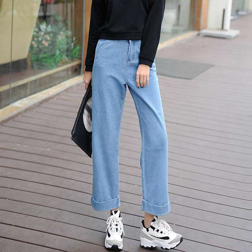 #2017 Casual Wide leg pants Fashion Spring summer jeans femme Vaqueros mujer Woman jeans Pantalon femme Ankle-length pants