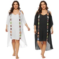 Plus Size New Arrival Sexy Swimsuit Cover Up Popular Beach Dress Beach Cover Girl Lady Holiday Style Pareo Sarongs Bikini Tunic