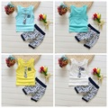 2016 Summer baby Sport suit 100% cotton fashion design baby boys set for 1 2 3 Years Baby Suits Children's clothing brand