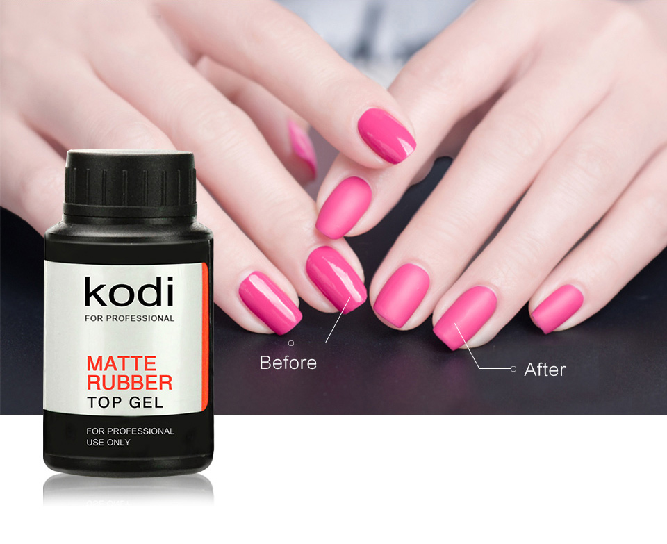 kodi Long Lasting UV Matte Top Coat Gel Polish UV Nail Primer Soak ...