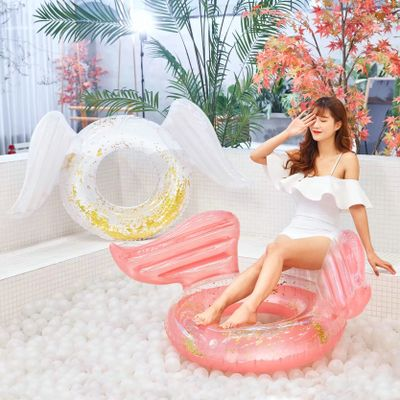Adult Wing Blings Swim Ring Floating Internet Celebrity Summer Inflatable Swimming Water Pool Floaties Swimtrainer Play Beach