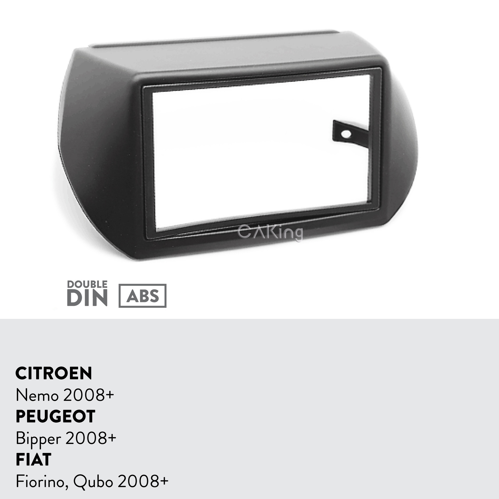Double Din Car Fascia Radio Panel for CITROEN Nemo / PEUGEOT Bipper / FIAT Fiorino, Qubo 2008+ Dash Kit Adapter Facia Face Plate-in Fascias from Automobiles & Motorcycles    2