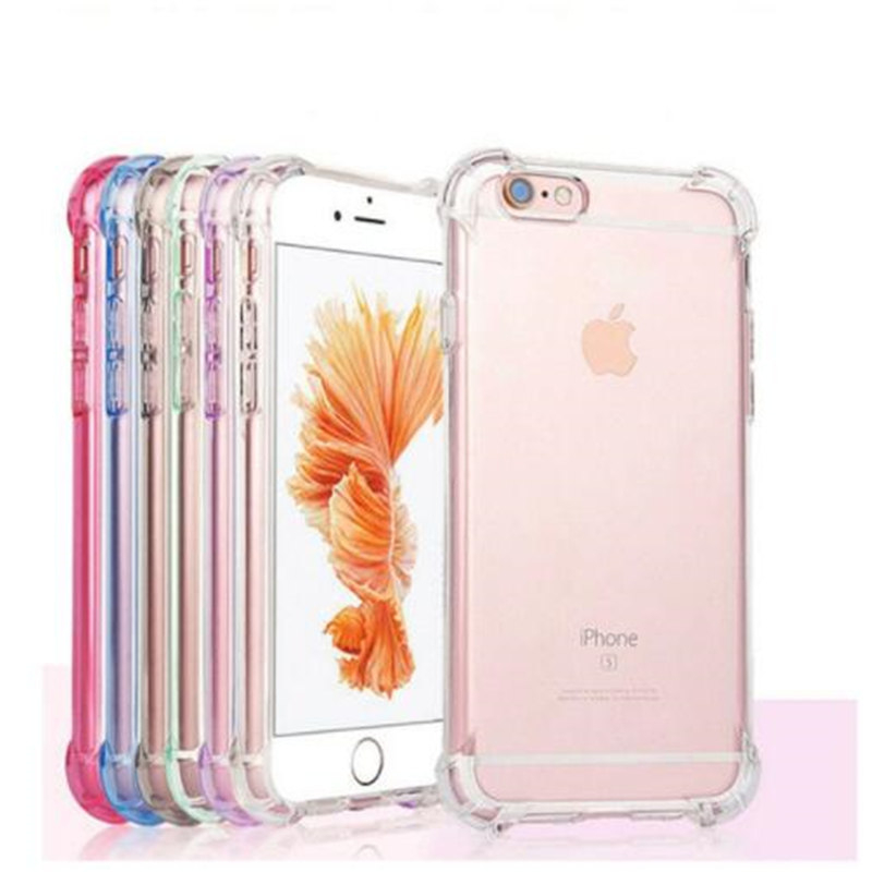 Super Anti knock Silicone Clear Soft TPU Case For iphone X 7 8 Plus Drop Protection Cell Phone Case for iphone X 7 6 6s Plus