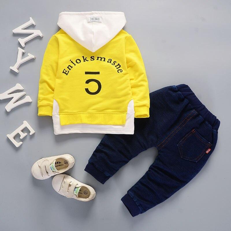 Spring Autumn Children Boy Girl Clothing Sets Baby Leisure Letter Cotton Hoodies Pants 2Pcs/Sets Fashion Kids Clothes Tracksuits