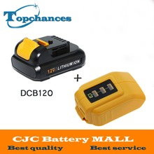High Quality power tool Battery For Dewalt 12V 2.0Ah 2000mah MAX Li-ion DCB120 DCD710 DCF813 DCF815 DCF610+USB Power Source