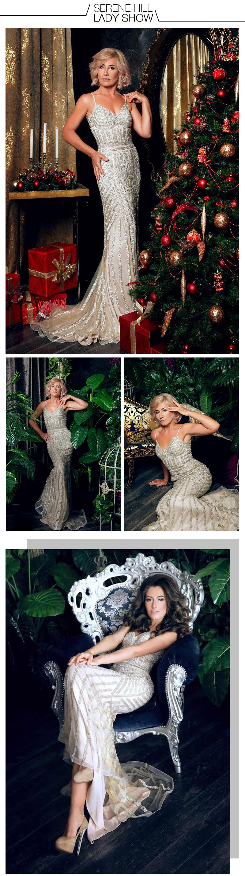 халат де суаре Бриллиантовая вечеринка платье реальные фотографии телесного цвета цвет тюль темно-синие партии случай формальное длинное вечернее платье