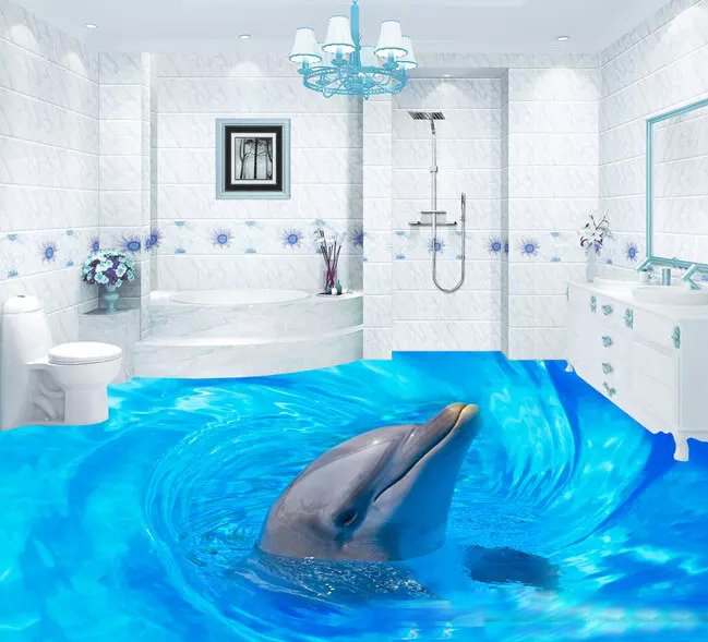 3d Flooring Custom Waterproof Wallpaper Beautiful Sea