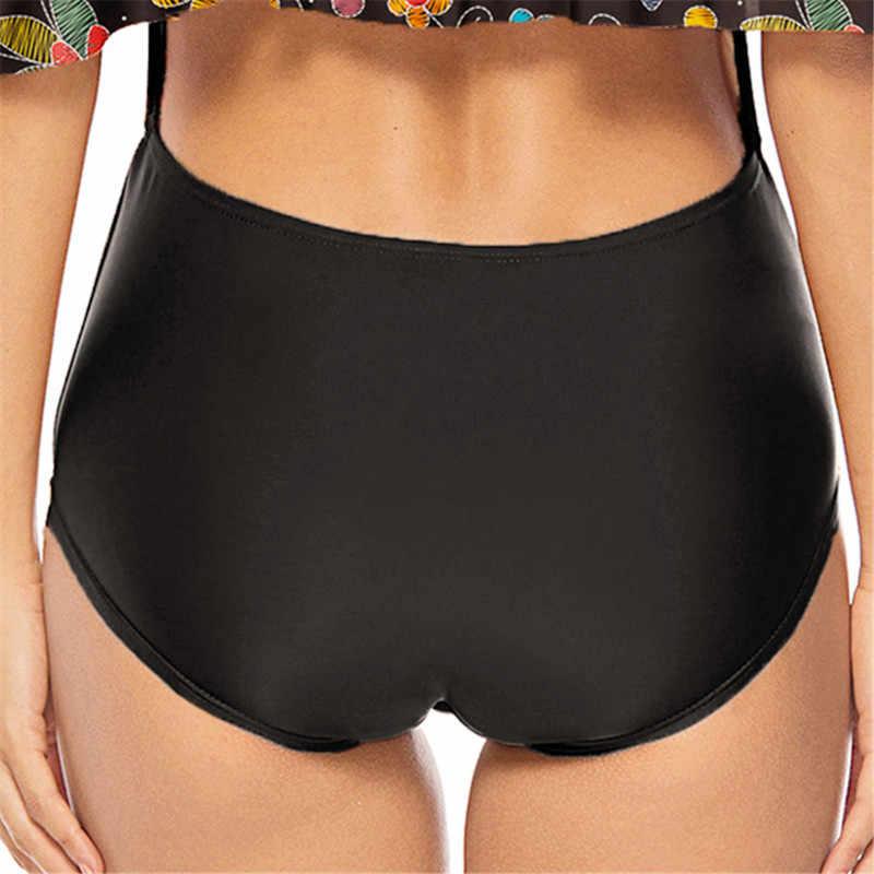 Ruffle One Piece Swimsuit Large Size Bathing Suit Female 2019 Plunge Vintage Floral Print Swimwear Neon Badpak Kawaii Swim XXXL