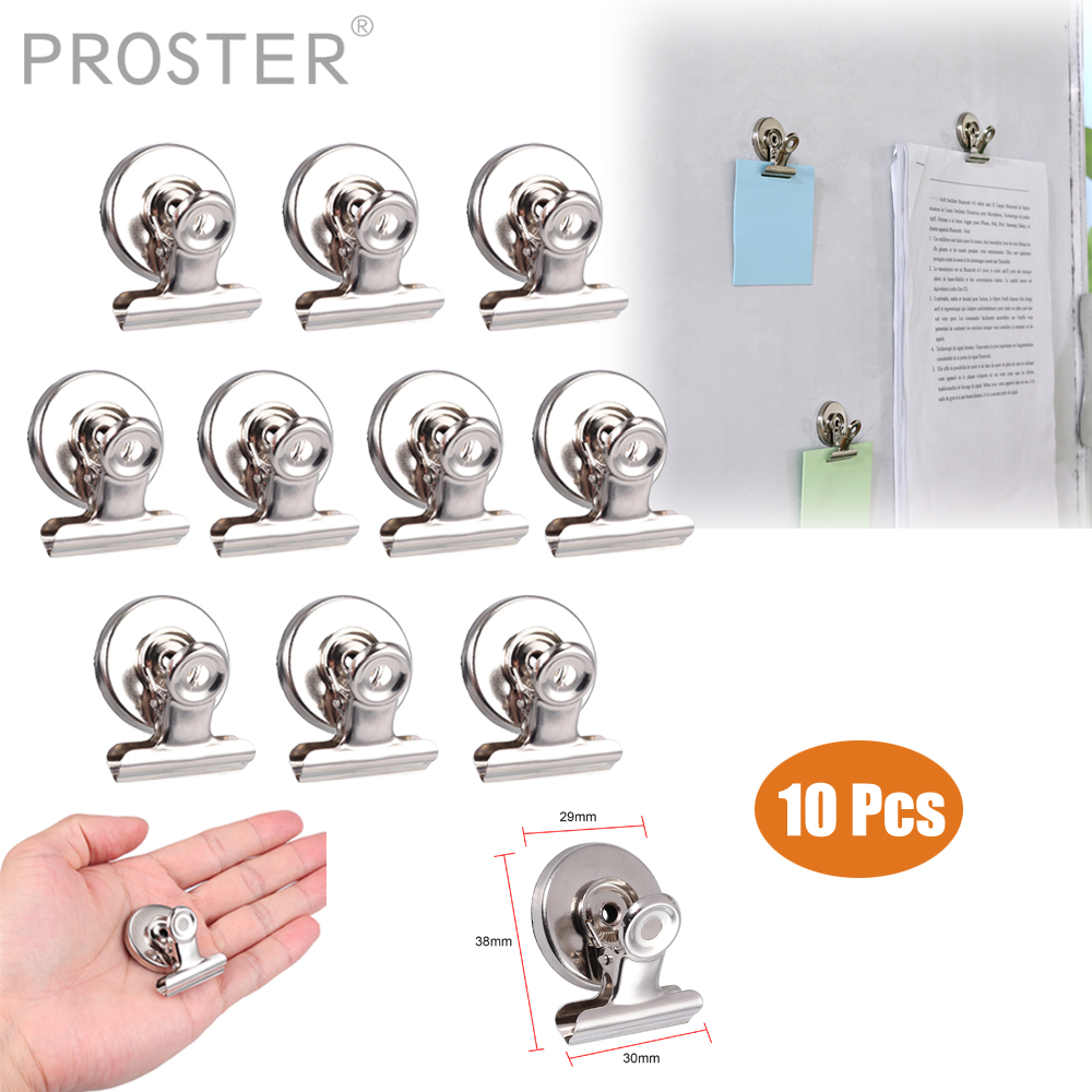 Fridge Magnet Clips Magnetic Non Slip Heavy Duty Memo Note Message Holder 12pcs