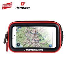 Herobiker держатель для телефона в байкерском стиле, подставка для телефона, держатель для телефона, водонепроницаемый чехол, сумка для Iphone 6/7, samsung