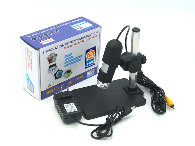 Factory Price New Arrival AV 1-50X/400X Digital Microscope AV Handheld Endoscope