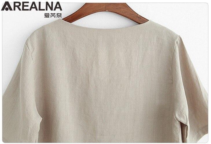 2018 Moda Verão Camisa Mulheres Tops Mangas Curtas Feminino Blusas Soltas  Casual Cotton Linen Escritório Fino Blusa Blusas Plus Size em Blusas    Camisas de ... 147cf06b16723