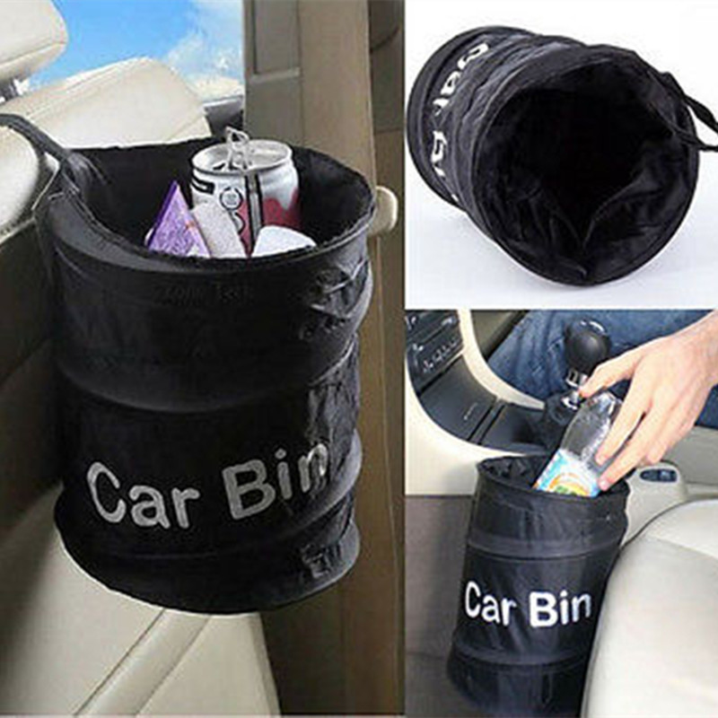 Fashion Wastebasket Trash Can Litter Container Car Auto Garbage BinBag Waste Bins Household Cleaning Tools Accessories