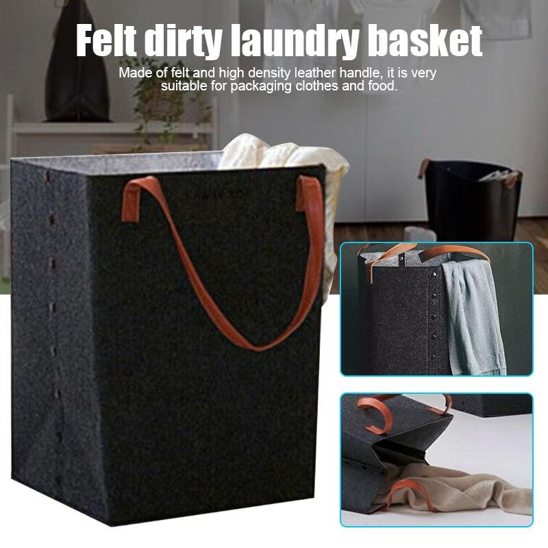 Foldable Laundry Hamper Basket With Handle Sorter Organizer Storage Box Home Supplies UD88