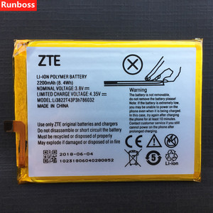 Image 1 - 2200mAh Li3822T43P3h786032 Battery For ZTE Blade X7 D6 V6 Z7 T660 T663 Rechargeable Li ion Built in Mobile Phone Battery