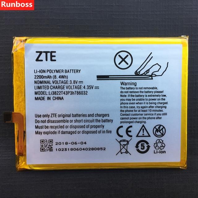 2200mAh Li3822T43P3h786032 Battery For ZTE Blade X7 D6 V6 Z7 T660 T663 Rechargeable Li ion Built in Mobile Phone Battery