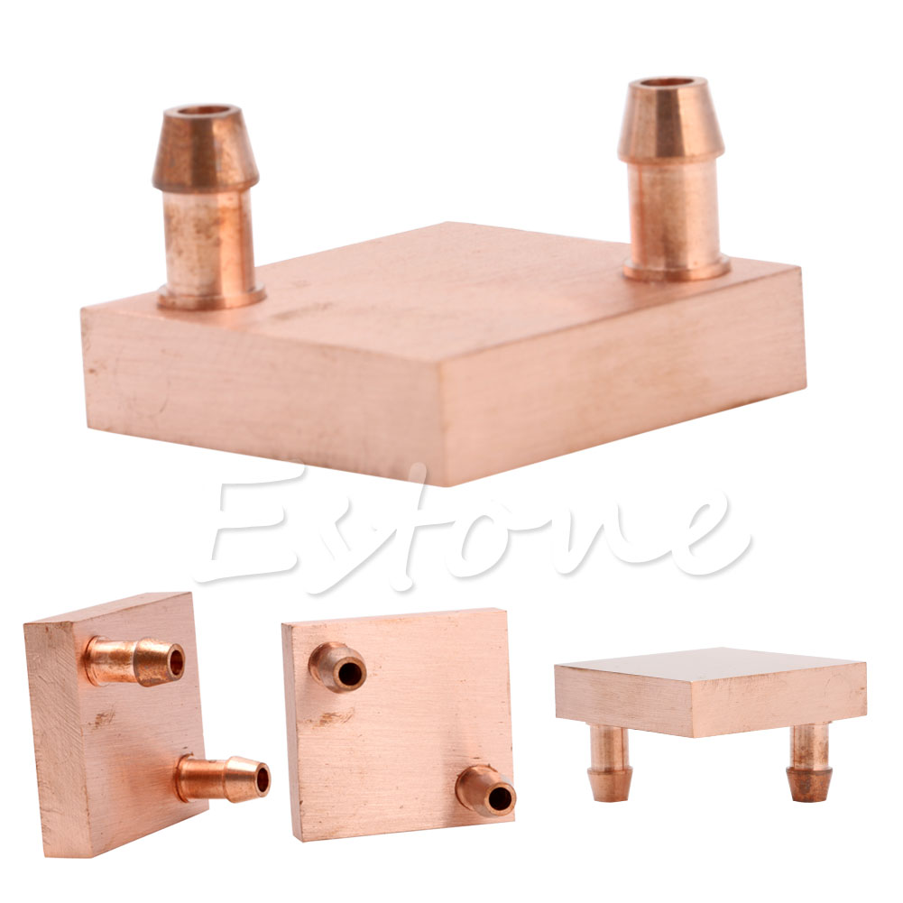 цены на Copper Water Cooling Block For GPU CPU Radiator Liquid Heatsink Heat Sink Cooled