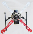 F06586-B Nylon Flamewheel kit HJ450 + Aluminio Carbono Tall Landing Skid para DIY RC Quadcopter MultiCopter de FPV + FS