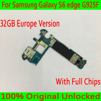 EU Version for Samsung Galaxy S6 edge G925F Motherboard with Android System,Original unlocked for Samsung S6 G925F Logic board