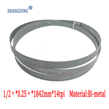 72.5x 1/2 x 0.25  or 1842*13*0.65*14tpi bimetal M42 metal bandsaw blades for European band saws