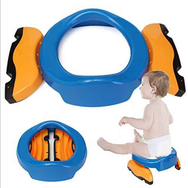 Plástico crianças Potties Wc Assento Penicos Crianças Formadores Confortáveis Portátil Higiênico Anel Potty Cadeira Dobrável de Viagem Do Bebê
