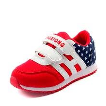Новый Детская Обувь Мальчики Девочки Спортивная Обувь Hook & Петля Дети Мода Кроссовки Удобные Воздухопроницаемой Сеткой Повседневная Обувь Zapatillas