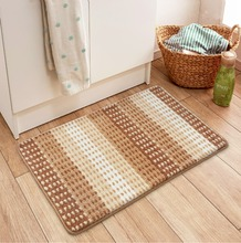 Bathroom Mat Tea Table Bibulous Antiskid False Superfine Fiber Stripe Washable Kitchen Rug Bath