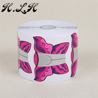 H.L.H 500 Pcs Nail Extension Nail Art Tips Extension Forms Guide Butterfly Shape DIY Tool Acrylic UV Gel Paper Cute Red Color