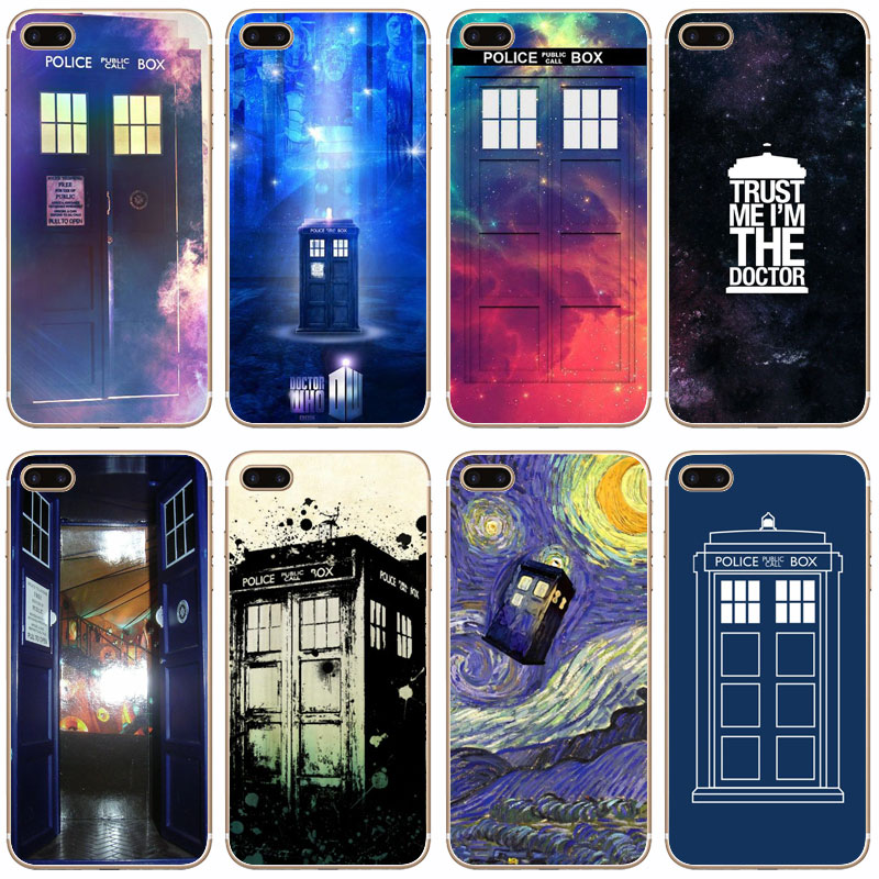 Yinuoda For Iphone 7 6 X Case Tardis Box Doctor Who Transparent Phone Cover Case For Iphone 8 7 6 6s Plus X 5 5s Se 5c 4 4s Half-wrapped Case
