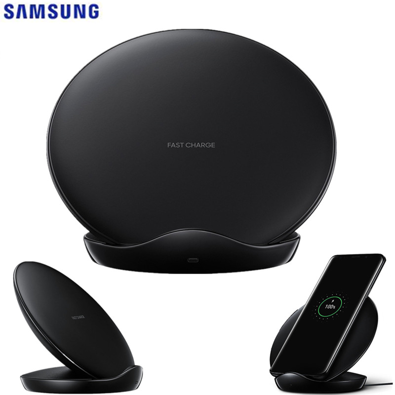 Original <font><b>Samsung</b></font> Fast Wireless <font><b>Charger</b></font> Qi Pad For Galaxy S10 <font><b>S9</b></font> S8 Plus S7 Note10 iPhone 8 Plus X/for Huawei Mate 20pro EP-N5100 image