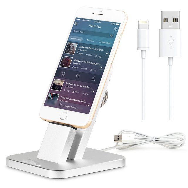 2016 New Arrival Fashion Aluminium Stand Holder Charging Dock Charger Station Mount Base For iPhone SE/5/5s/6/6S/7/PLUS