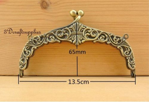 5 inch anti bronze brush diecasting purse frame with loops Z82