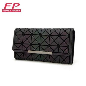 2018 Bao Wallet Women Long Clutch Small Purses Lattice Standard Wallets bao bag Laser bag Luminous Wallets Card Holder carteira