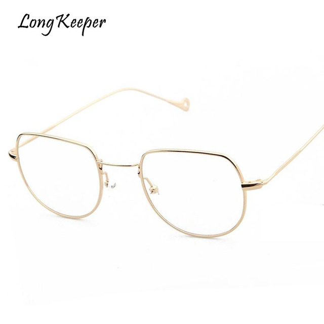 Long Keeper Women Glasses Full Alloy Eyeglasses Frames Oval Eyewares ...
