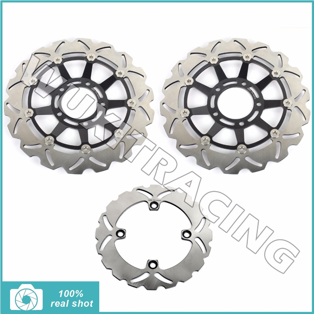 New Motorcycle Full Set Front Rear Brake Discs Rotors fit for TRIUMPH TRIUMPH SPEED TRIPLE 1050 2005 2006 2007 05-07 mfs motor motorcycle part front rear brake discs rotor for yamaha yzf r6 2003 2004 2005 yzfr6 03 04 05 gold
