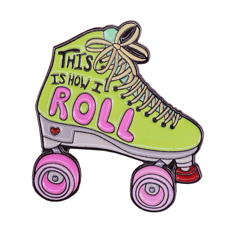 Hard-Working Roller Skates Lapel Pin Badges For Clothes Skating Shoes Rozety Papierowe Icon Backpack 1pcs Xy0326 Arts,crafts & Sewing Home & Garden