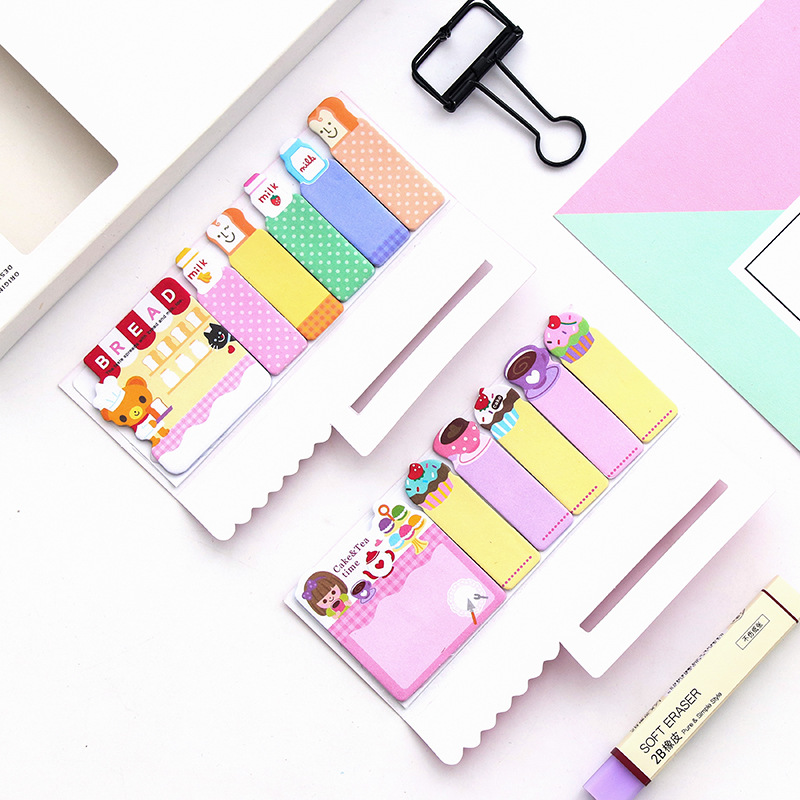 JOUDOO 3pcs/lot Cute Cartoon Animal Memo Pad Candy Color Post It Stickers Sticky Notes for Girls School Office Supplies