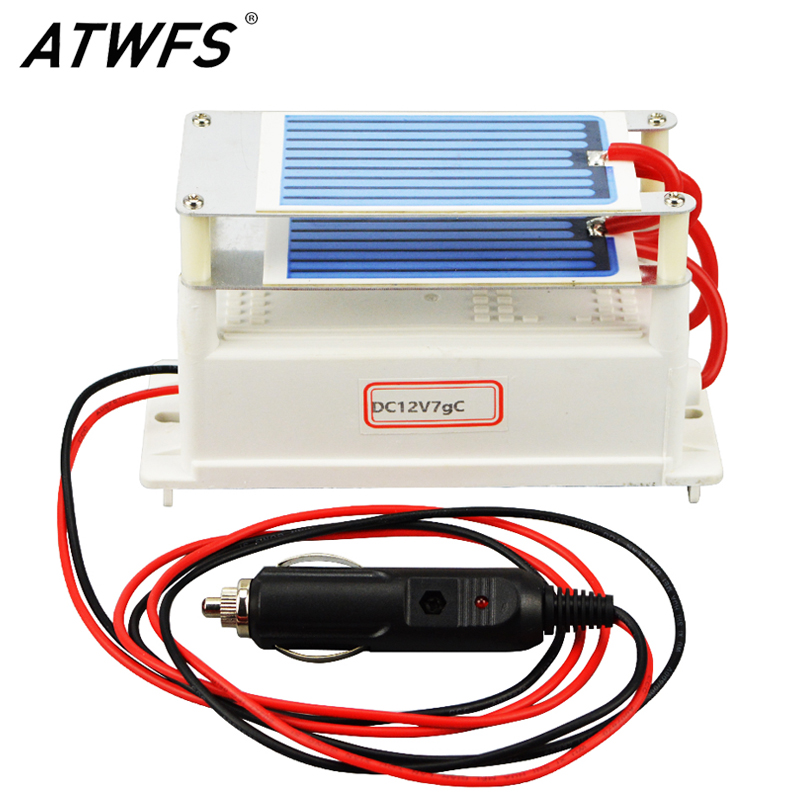 ATWFS High Quality Ozon Generator Ceramic Plate DC12v 7g Car Air Portable Ozone Generator for Air Sterilizer ceramic plate with ceramic base 5g h ozone generator for ozone generator accessory white 120mm x 50mm