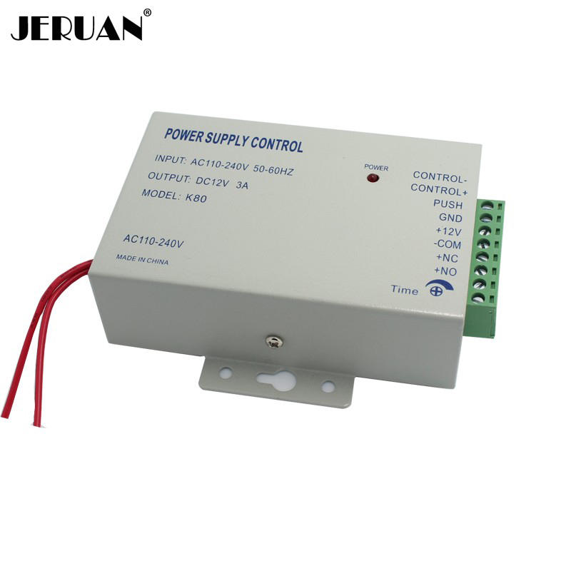 FREE SHIPPING DC 12V New Door Access Control system Switch Power Supply 3A/AC 110~240V Delay time max 15 sec In Stock dc 12v led display digital delay timer control switch module plc automation new