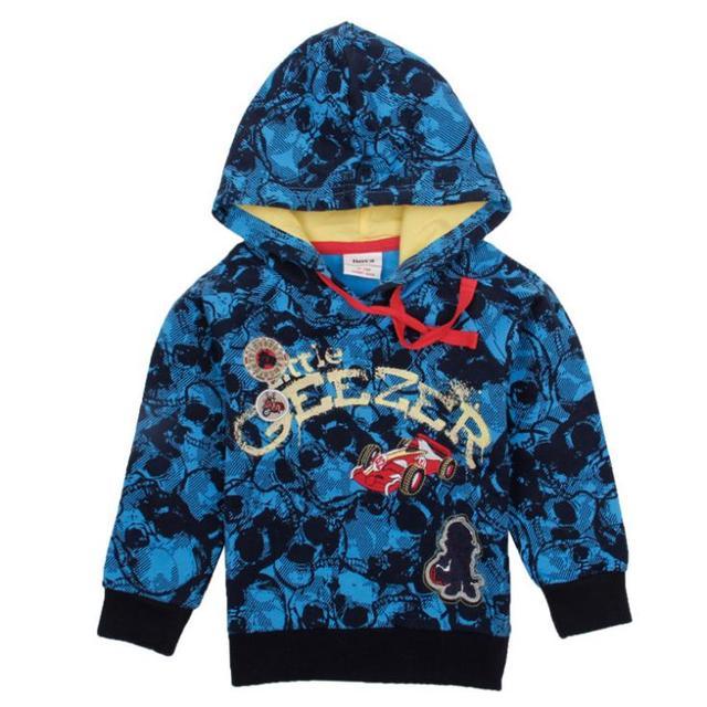 Сапфир синий вышивка мальчики толстовки дети носят толстовки куртки новый год спортивные костюмы baby дети одежда из хлопка