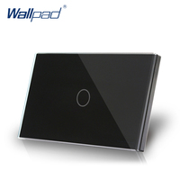 1 Gang 1 Way US AU Standard Wallpad Touch On Off Switch Touch Screen Light Switch