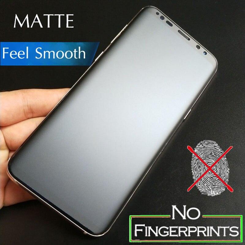 3D couverture complète mat givré protecteur d'écran pour Samsung Galaxy S7 Edge S8 S9 S10 Plus S10e Note 8 9 10 Plus Film souple pas verre