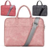 14 15 15 6 Inch Waterproof PU Laptop Solid Notebook Tablet Bag Bags Case Messenger Shoulder